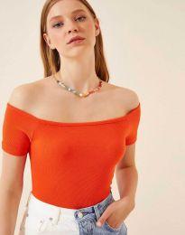 Дамска тениска в оранжево - 13010