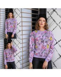 Дамска блуза с анимационен десен - код 1471 - 1
