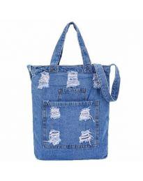Дамска дънкова чанта в светлосиньо - код B580
