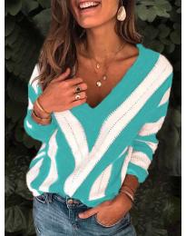 Дамска блуза в цвят тюркоаз - код 786