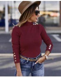 Дамска блуза в бордо - код 7971