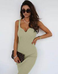 Елегантна дамска рокля в зелено - код 10033