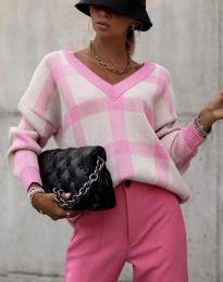 Ефектна дамска блуза в розово - код 8927