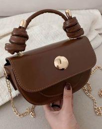 Дамска чанта в тъмнокафяво - код B417
