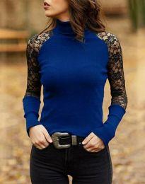 Атрактивна дамска блуза в синьо - код 35288