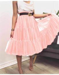 Стилна пола в розово - код 2060