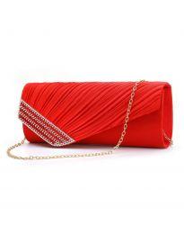 Стилна дамска чанта в червено - код B166