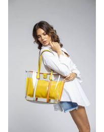 Дамска чанта в  жълто - код LS542