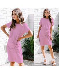 Изчистена рокля в цвят лилаво - код 835