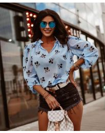 Дамска блуза в светло синьо - код 1619