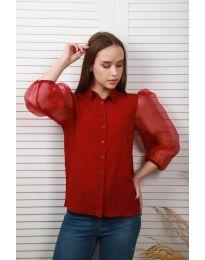 Дамска риза в бордо - код 0633