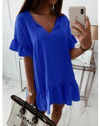 Свободна рокля в синьо - код 559