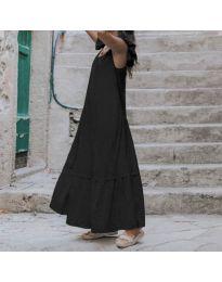 Свободна дълга рокля в черно - код 9036