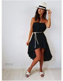 Асиметрична рокля в черно - код 054