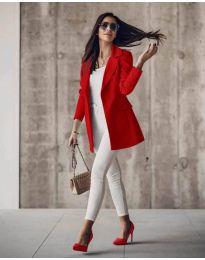 Дамско сако в червено - код 5212