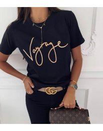 Дамска тениска в черно - код 3350