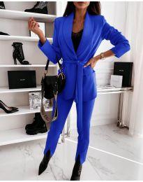 Дамски комплект в синьо - код 2227