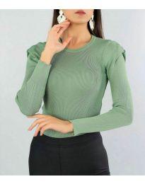 Дамска блуза в зелено - код 374
