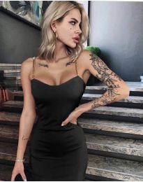 Елегантна рокля в черно - код 4749