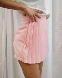 Дамска пола тип панталонки в розово - код 8787
