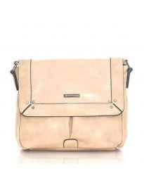 Дамска чанта в цвят праскова - код  Y81914-1