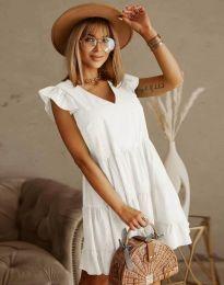 Дамска рокля в бяло - код 6224