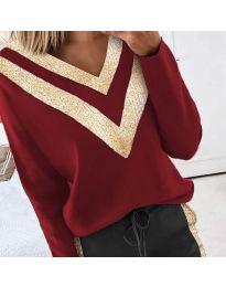 Дамска блуза в бордо - код 2190