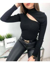 Атрактивна дамска блуза в черно - код 6363