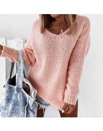 Плетена дамска блуза в розово - код 112