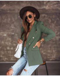 Елегантно дамско сако в масленозелено - код 5255