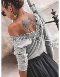 Дамска блуза в сиво - код 188