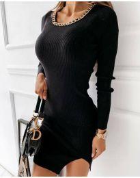 Семпла дамска рокля в черно - код 4545