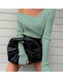 Елегантна блуза в цвят мента - код 6250
