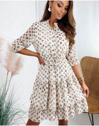 Дамска рокля с ефектен десен - код 8877 - 4
