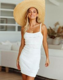 Дамска рокля в бяло - 10099