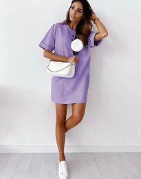 Свободна рокля в лилаво - код 2231