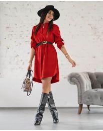 Дамска рокля в червено - код 9601