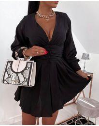 Екстравагантна рокля в черно - код 4343