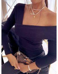 Атрактивна дамска блуза в черно - код 5343