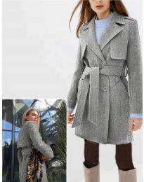 Дамско палто в сиво - код 3113