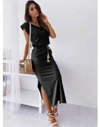 Изчистена рокля в черно - код 6622