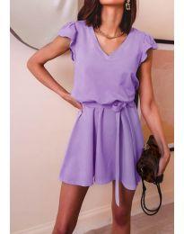 Изчистена рокля в лилаво - код 5551