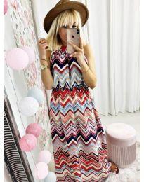 Дълга рокля с атрактивен десен - код 9857
