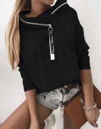 Атрактивна дамска блуза в черно - код 48533