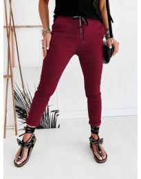Дамски панталон в цвят бордо - код 2020