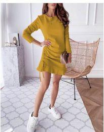 Дамска рокля в горчица - код 832