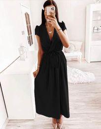 Свободна дамска рокля в черно - код 2455