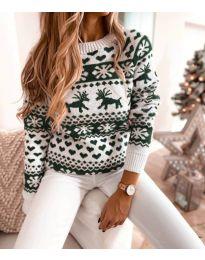 Дамски пуловер със зимен десен - код 2725 - 4