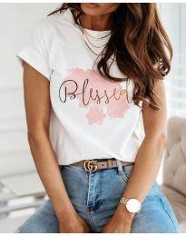 Тениска - код 3709 - бяло