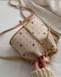 Ефектна дамска чанта в бежово - код B302